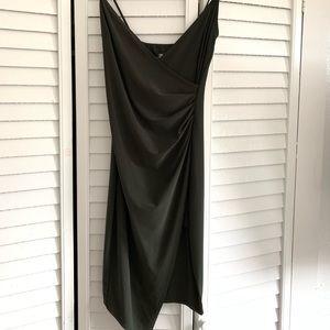 Olive Green Slit Dress